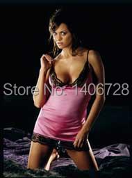 Open Crotch Women Pink Erotic Apparel Lace Sexiest Lingerie Hot Nightwear Sets Porn Sleepwear(China (Mainland))