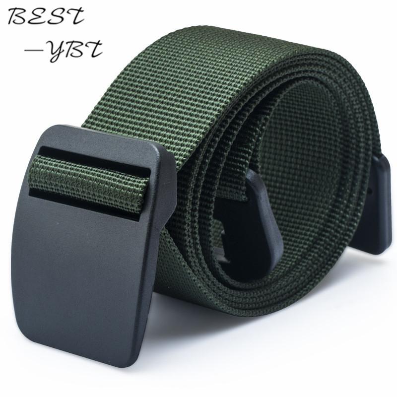 2016 New Men's Women's Luxury Canvas Belt Fashion Durable Casual Nylon Belt Quick-dry Strap Belt Plastic Buckle 125cm(China (Mainland))