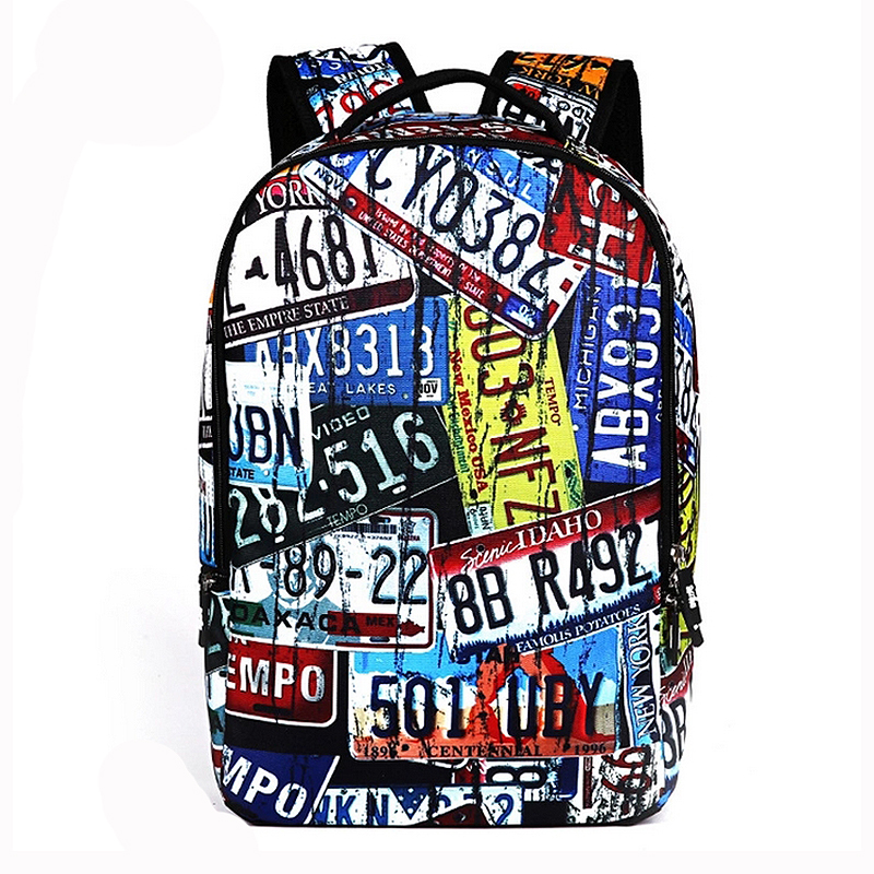 2016 Cool 3D Crazy Shoes Plate Surfing Printing Felt Backpack Men's Backpack Bag For School College Student(China (Mainland))