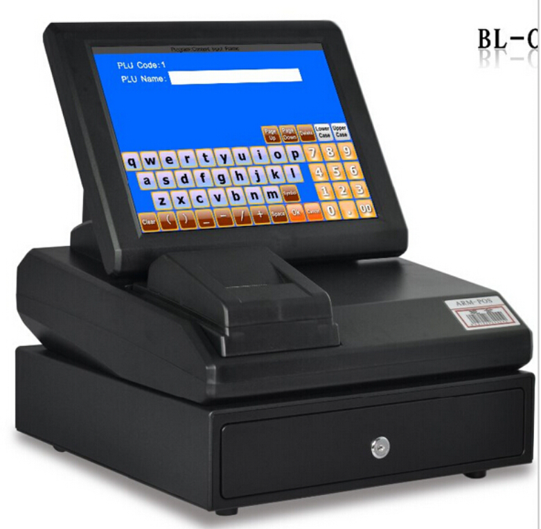 "12"" High Quality Touch Screen Pos System Restaurant Equipment cash register(China (Mainland))"