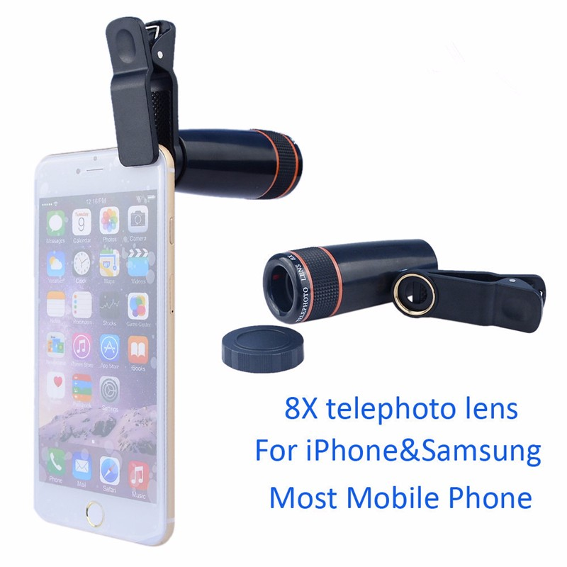 Camera Lens 8X telescope Mobile Phone Optical Camera Optical Zoom Telephoto Lenses for iphone6 7 plus samsung huawei xiaomi LG