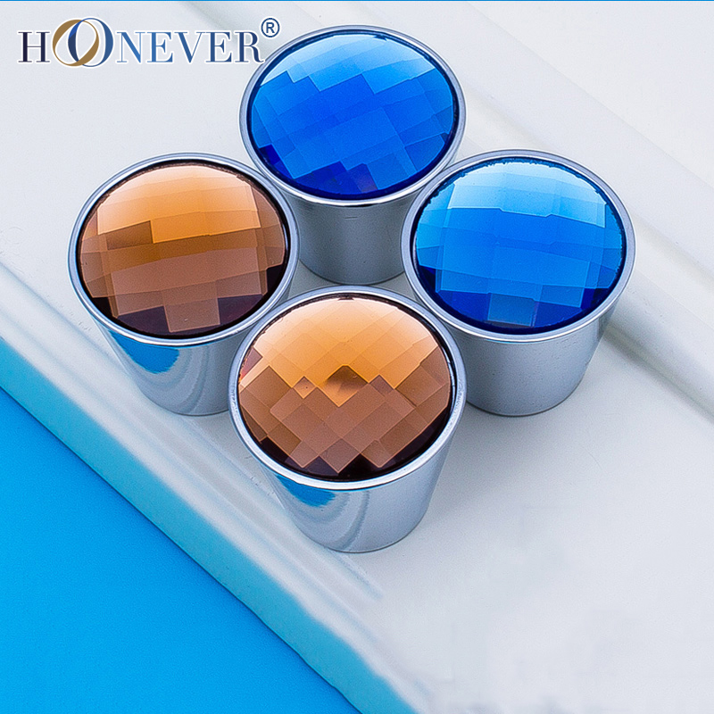 5pcs Crystal Knobs and Handles Fashion Furniture Handles for Kitchen Cupboards Glass Door Drawer Knobs(China (Mainland))