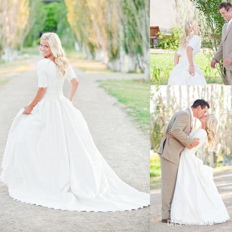 Popular Modest Plus Size Wedding Dress-Buy Cheap Modest Plus Size ...