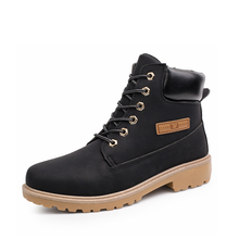 2016 New Winter Famous Brand Men's Shoes Martin Boots Warm Men Leather Shoes Masculino Men's Comfortable Casual Snow bootsXZ46
