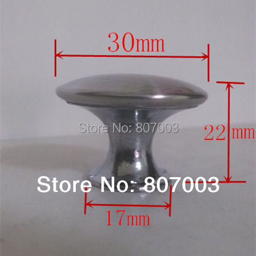 1 1/4 Stainless steel Satin Knob Pull Handle Kitchen Cabinet Hardware free shipping<br><br>Aliexpress