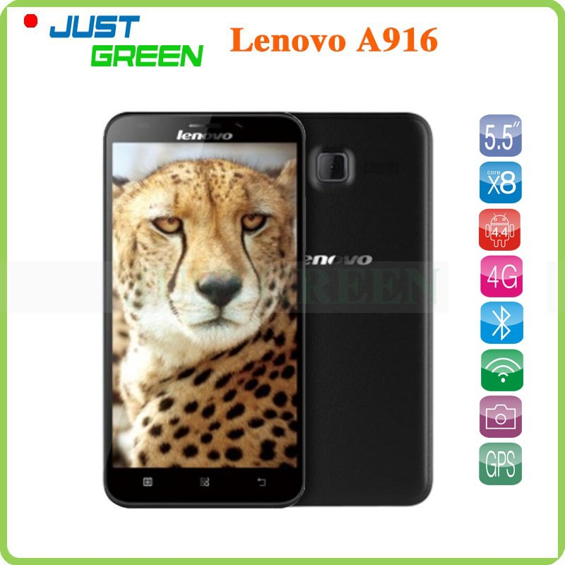 New Lenovo A916 Octa Core Android Cell Phone 5.5 inch IPS 1280x720P MTK6592 1GB RAM 8GB ROM 13MP Camera 4G FDD LTE GPS in Stock(China (Mainland))