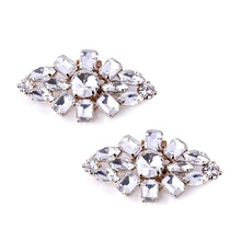 Woman Clips AL Hat Dress Shoes Clutches Bag Decoration Wedding Party Silver Clips 2 Pcs(China (Mainland))