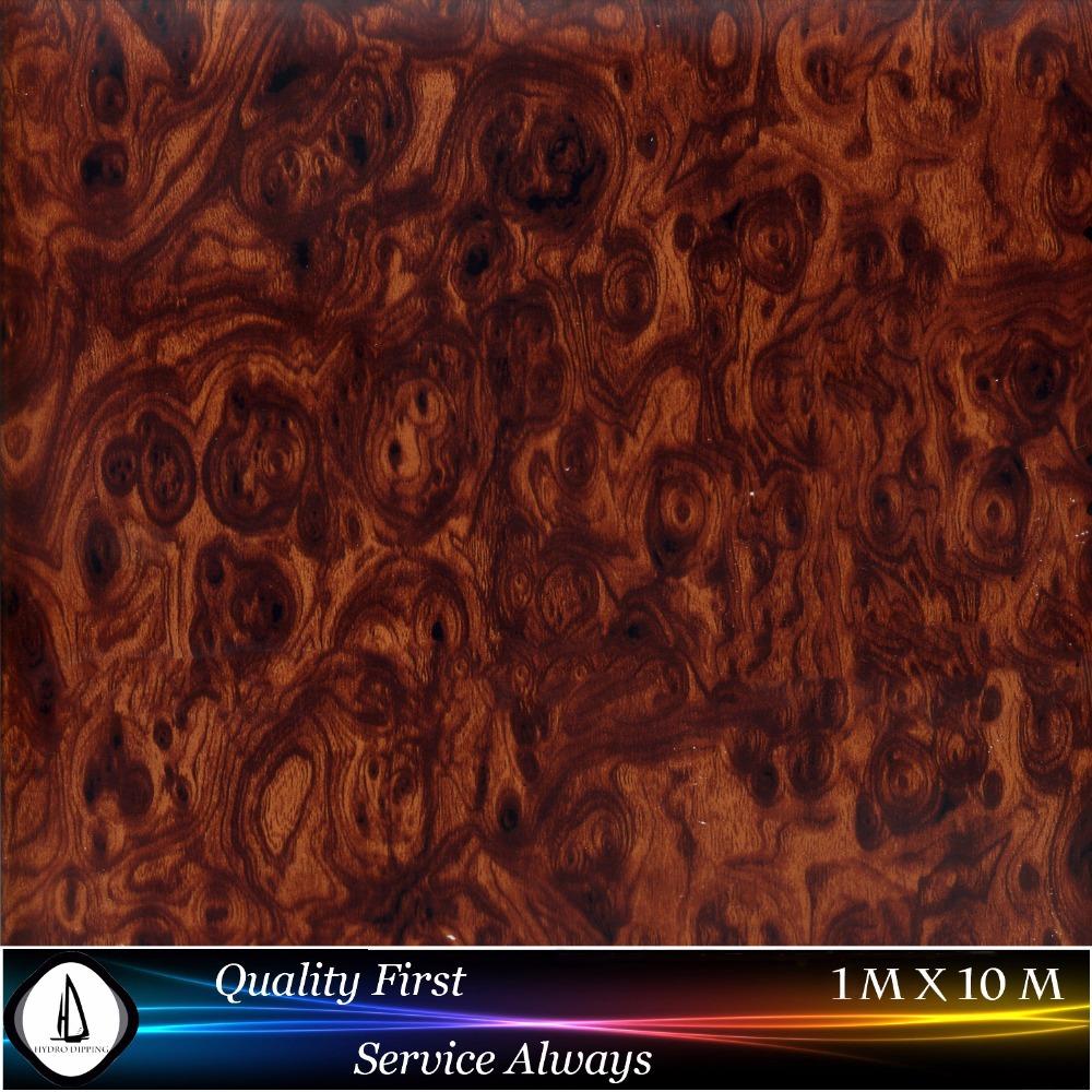 Special walnut burl wood grain Water tranfer Printing,M-1751,Aqua Print for furniture,Lamp bases,Hydrographic FILM(China (Mainland))