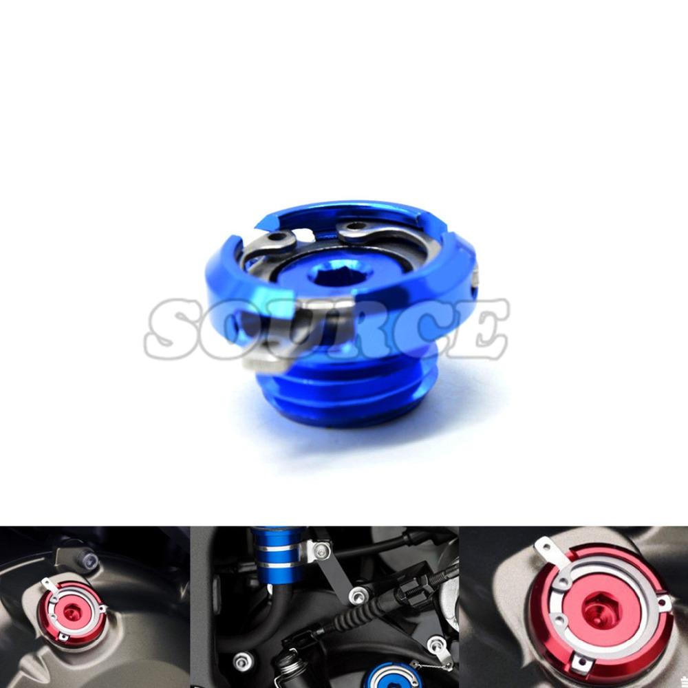 M20*2.5 Motorbike CNC Engine Oil Filler Cup Cap Plate Brake Bracket for Honda VFR1200F VFR 1200f kawasaki z1000 10-14 11 12 13