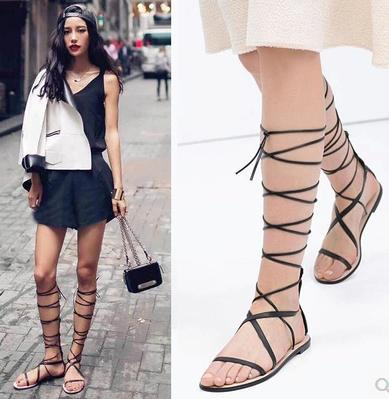 Popular Knee Strap Sandals Buy Cheap Knee Strap Sandals