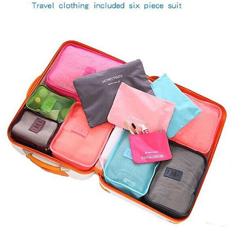 6PCS Travel Organizer Bag Clothes Pouch Portable Suitcase Luggage Storage Case(China (Mainland))