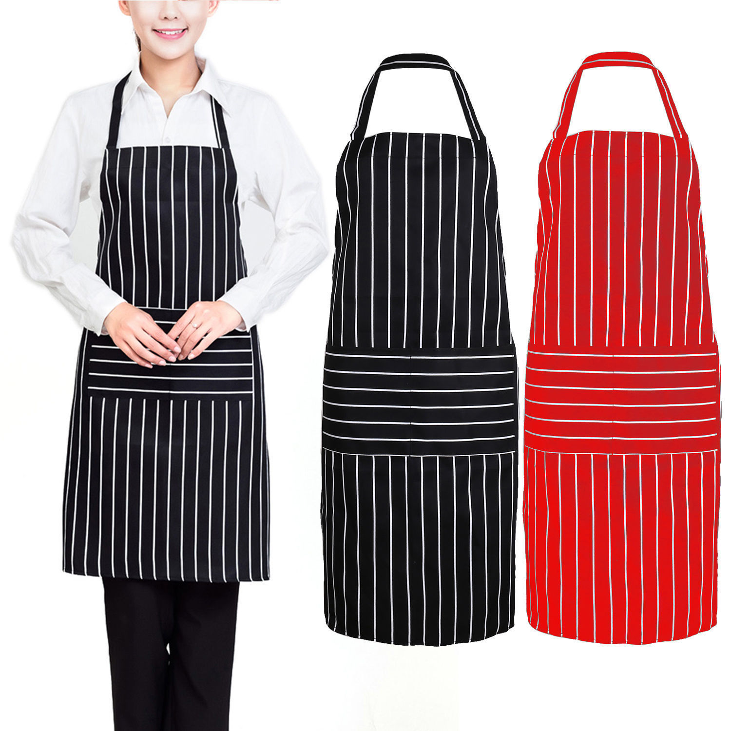 New Women Cooking Kitchen Restaurant Apron Bib New Dress with Pocket Aprons Table Skirt(China (Mainland))