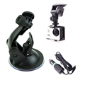 Car Charger and Car Mount For SJCAM SJ4000 Action Camera Car Suction Cup Adapter For Xiaomi