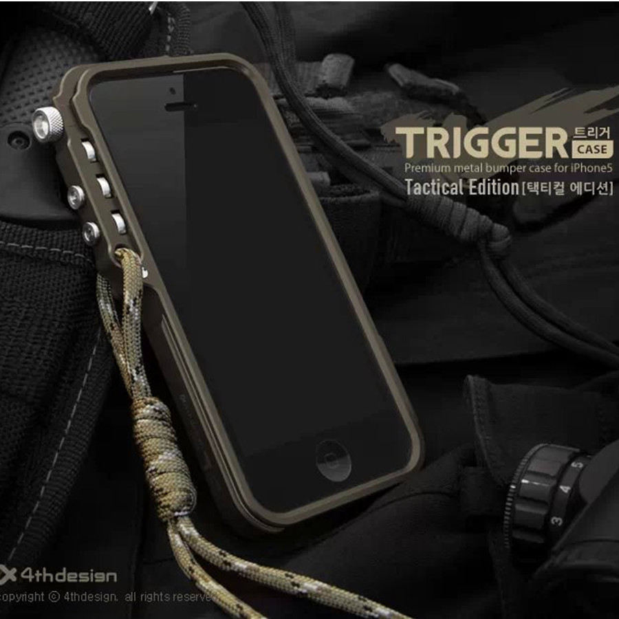 Trigger Tactical Edition Metal Bumper for IPhone 5 SE 5S 4 4S 6 S 6S Plus M2 4th Design Premium Aluminum Frame Phone Housing(China (Mainland))