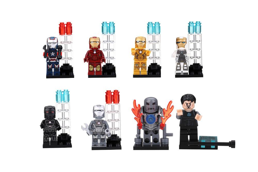 15set Decool 0160-0168 Building Blocks Super Heroes Minifigures Iron Man Bricks Figures Toys Mark  Avengers,child toys,Bricks<br><br>Aliexpress