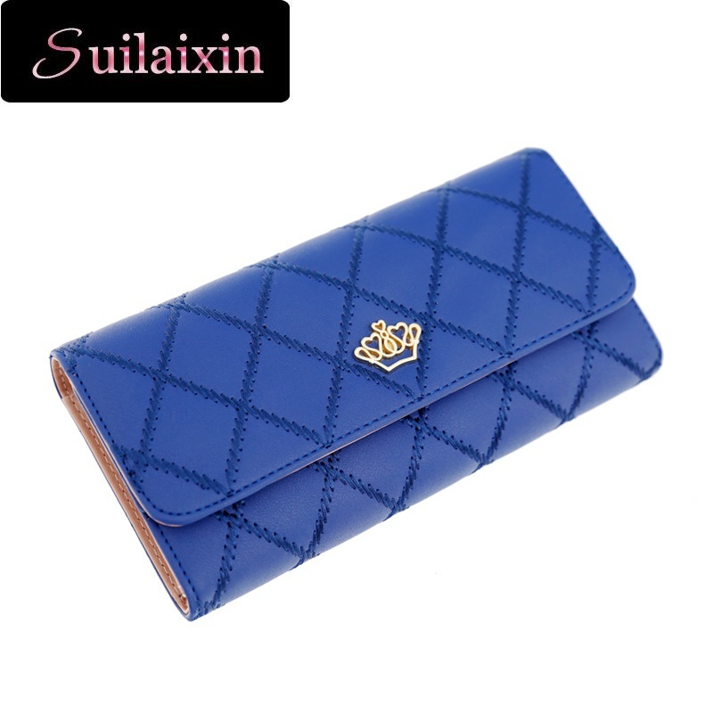 SUILAIXIN Fashion High Capacity Women Wallets Gold Metal Lady Long Day Clutch 3 fold Wallet High Quality Purse Card Holder(China (Mainland))