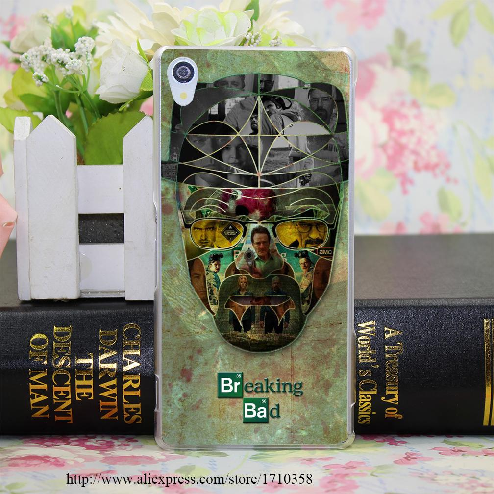 breaking bad hat trick Clear Hard Transparent Case Cover for Sony Xperia Z2 Z3 Z3 Dual Z3+/Z4(China (Mainland))