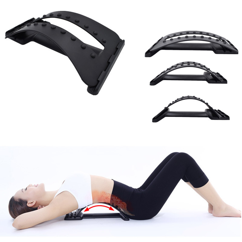 MOREE Back Massage Stretcher Stretching Magic Lumbar Support Waist Neck Relax Mate Device Spine Pain Relief Chiropractic(China (Mainland))