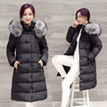 Women Winter Coat Thicken Warm Down Cotton Long Coat for Woman Coat Parkas Luxury Large Faux