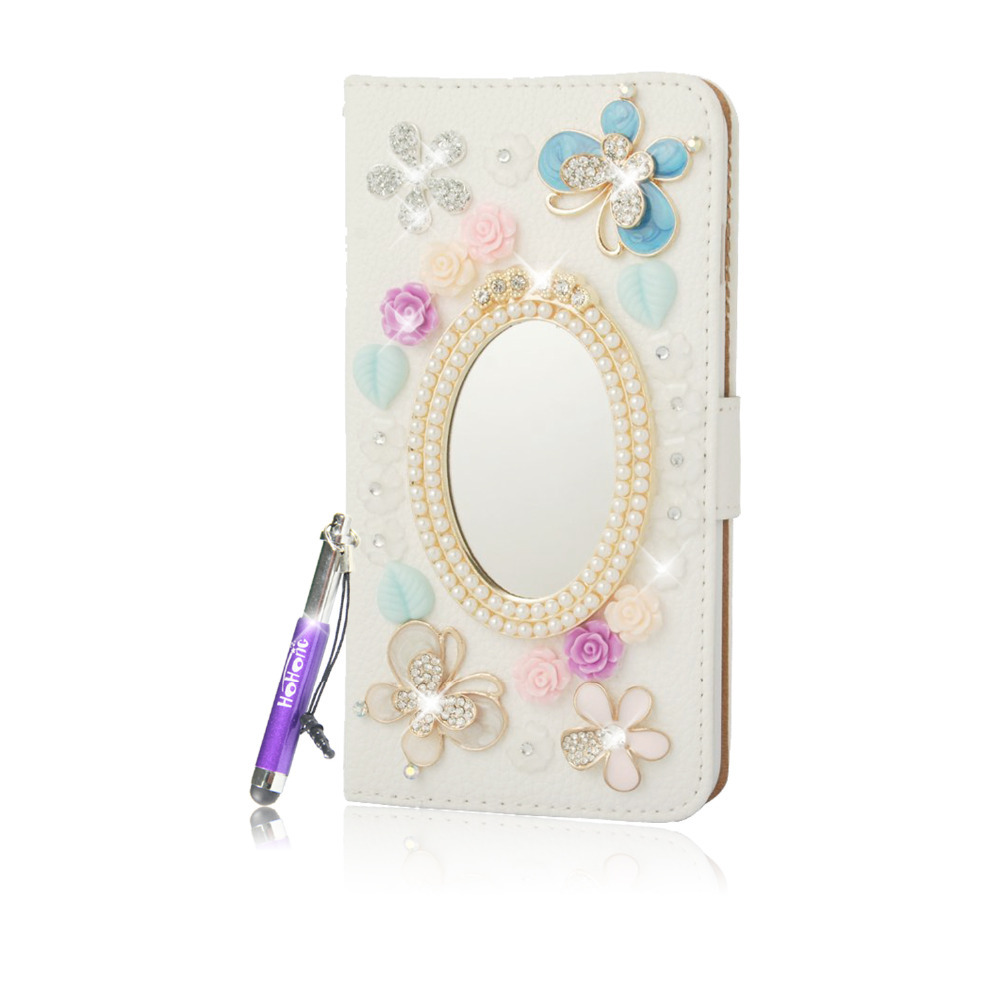 For iPhone 6 Plus case Girl Women Lovely Wallet Case Flip Case Stand Cover with Strap for Apple iPhone 6 Plus(China (Mainland))