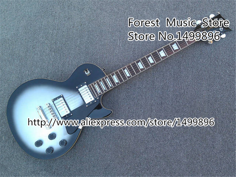 New Brand Vintage Silver Dust Guitar Body LP Custom Electric Guitars China Left Hnaded available(China (Mainland))