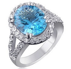 ! Fine Jewelry Fashion Rings Classic Ring, 9mm*11mm natural topaz ring pure 925 silver platinum plated - CoLife store