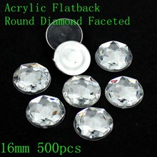 Free shipping acrylic flat back round special faceted many sizes crystal color acrylic shape nail art rhinestone glue on beads(China (Mainland))