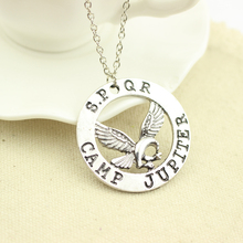 Movie Percy Jackson Camp Jupiter Spqr Flying HorsePendant Necklaces Jewelry Gifts Rope Necklace Splicing Necklace Accessories
