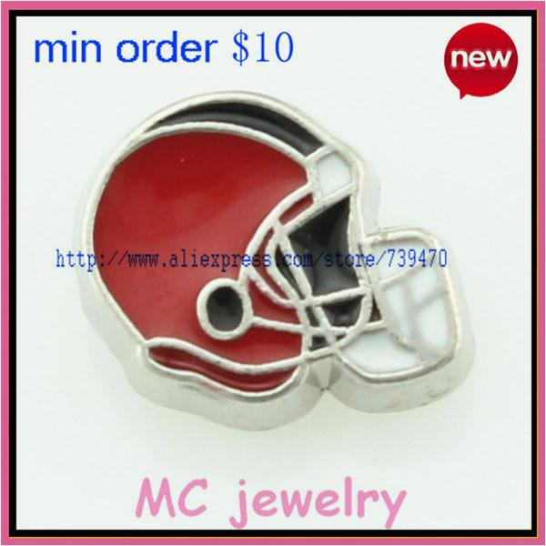 enamel Football cap perfect designed pendant nfl floating charms(China (Mainland))