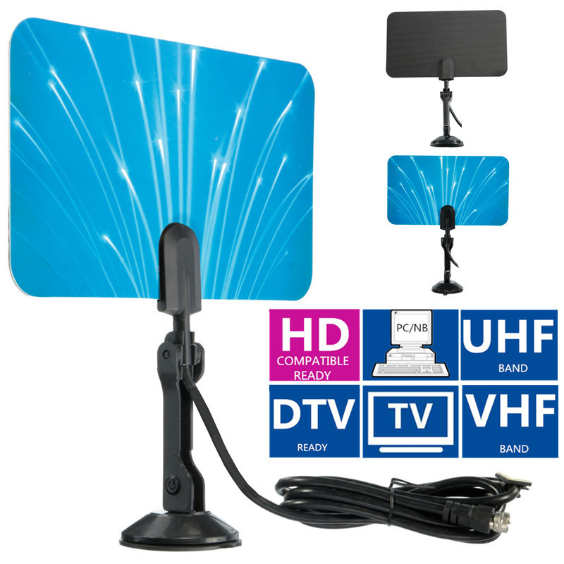 2015 New Arrival Digital Indoor TV Antenna Receiver HDTV DTV Box Ready HD VHF UHF Flat Design High Gain(China (Mainland))