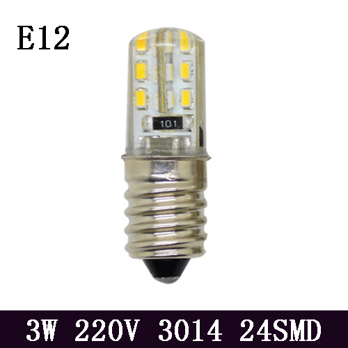 1x Hight Power 3W E12 Led Candle Light Lamps AC 220V SMD3014 Led Bulb Lamp chandelier Lighting(China (Mainland))