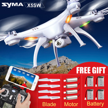 Hot Sale Syma X5SW(X5S X5SC Upgrade) RC Quadcopter with HD Camera 4CH Wifi FPV Real-time Transmission Remote Control Helicopter(China (Mainland))