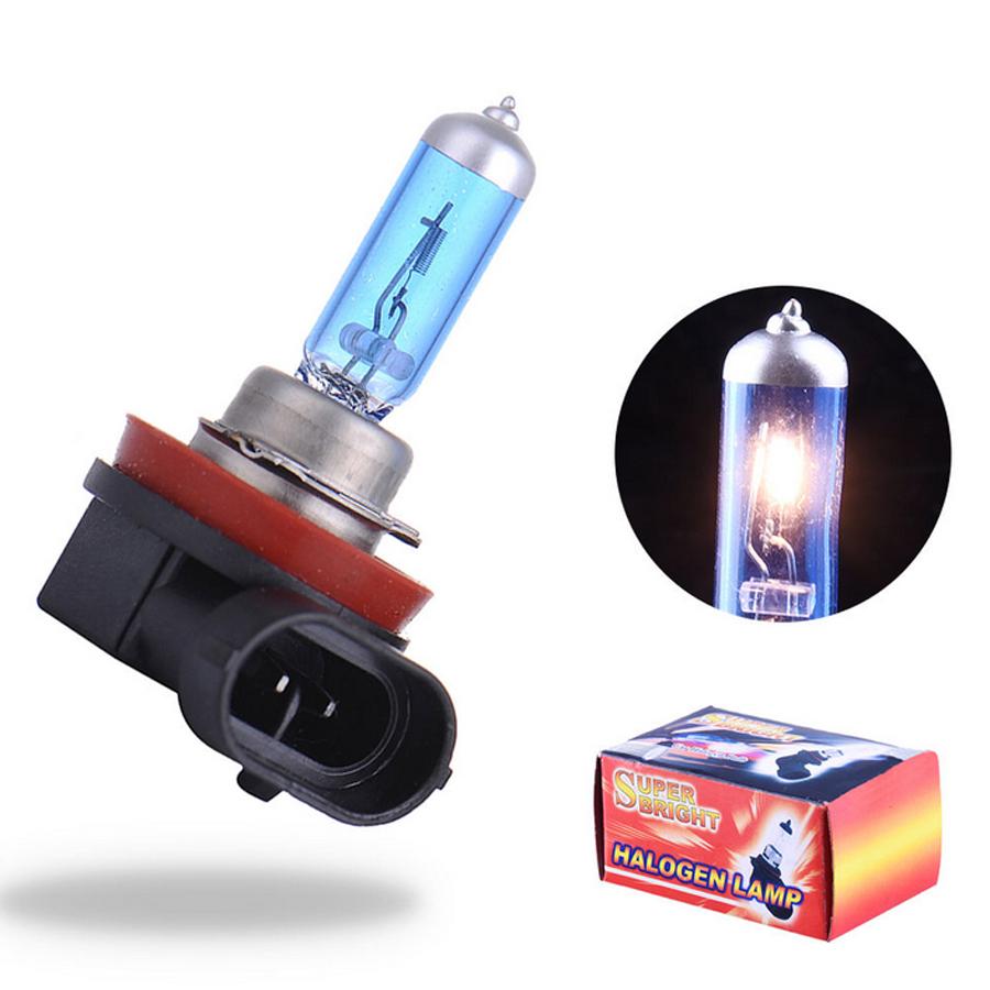 2PCS H11 12V 55W 6000K Car Fog Light Bulb Lamp Super White Halogen Xenon Car Styling Car Light Source For Ford Wholesale(China (Mainland))