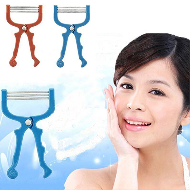 1PCS Fashion Handheld Face Hair Removal Threading Beauty Female Epilator Women Depilatory Tools Hair Remover(China (Mainland))