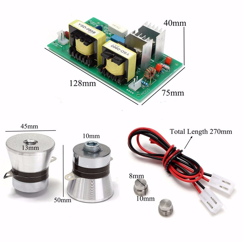 New 1PC Power Driver Board 110VAC 100W +50W 40KHz 45 mm Ultrasonic Transducer Cleaner Durable Quality Integrated Circuits(China (Mainland))