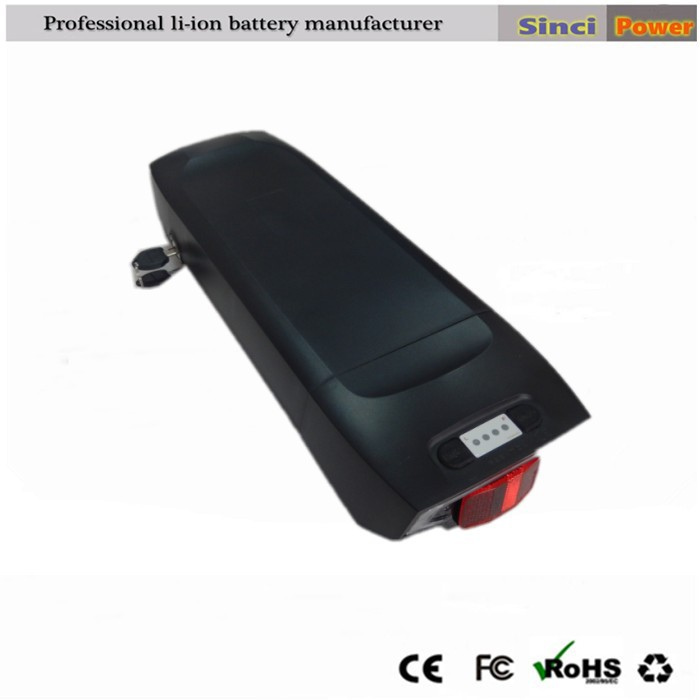 2015 newest 48v down tube li-ion battery pack for electric bicycle with charger(China (Mainland))