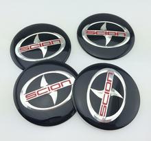 4pcs/lot 65MM scion Car Wheel Logo Cap Emblem Sticker Center Cover  wheel hub CAP (China (Mainland))