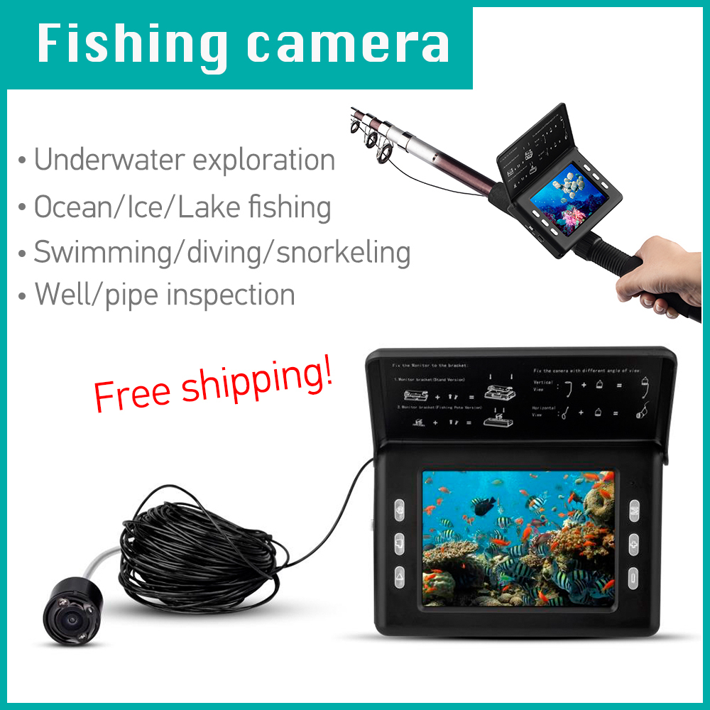 Underwater fish camera with camcorder function, HD camcorder for fishing with 15 meters cable, free shipping hot selling.(China (Mainland))