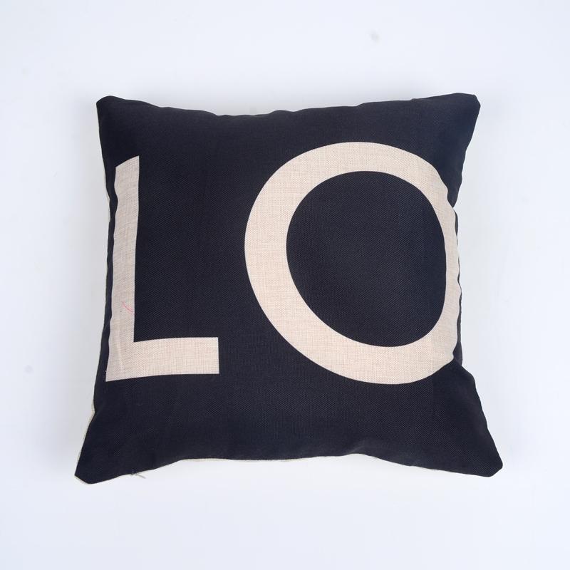 Cushions Home Decor Cover sofa Pillowcase 4343cm Black  : Cushions Home Decor Cover sofa Pillowcase 43 43cm Black White of Love Car Covers Linen cushion from www.aliexpress.com size 800 x 800 jpeg 285kB