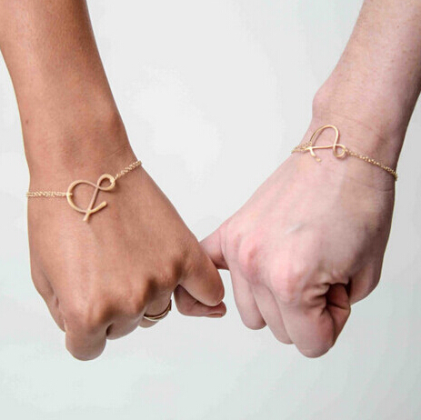 """18k gold plated bracelets """"&""""Character chain &Line Bracelets Fine chain friendship bracelets(China (Mainland))"""