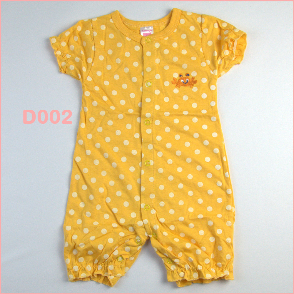 unisex short sleeve baby rompers new born infant organic cotton summer body carters creepers clothes wear dresses roupa 2014 new(China (Mainland))