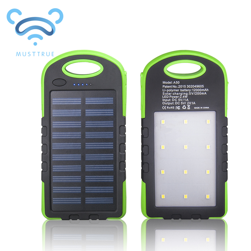 MUSTTRUE Solar Power Bank Dual USB Powerbank 10000mAh External Battery Portable Charger Bateria Externa Pack for Mobile phone(China (Mainland))