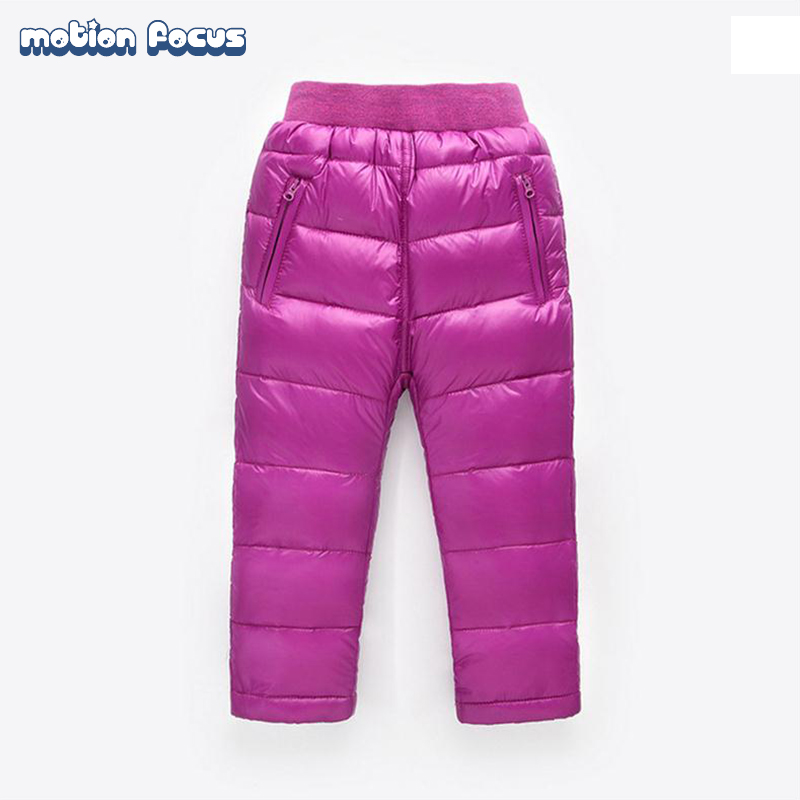New Arrival 2016 Winter Children Pant Kids Down Pants Boys Girls Sport Trousers Children's Duck Down Warm Pants for Kids 2-7yrs(China (Mainland))