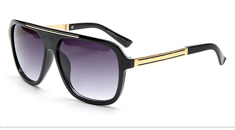 HOT !2016 Fashion crocodile sunglasses man Classic Brand Rivets Metal Design men women retro Sun glasses gafas oculos with logo(China (Mainland))