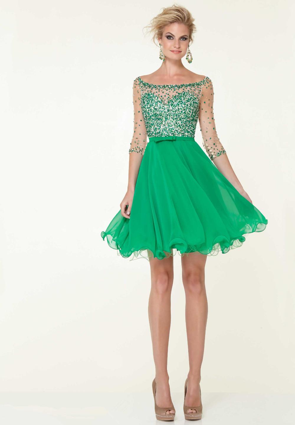 GREEN HOMECOMING DRESSES - Omenas Benen