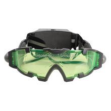 Design ergonomique lunettes de Vision nocturne teintée en vert objectif lumières LED pour l'extérieur haute qualité(China (Mainland))