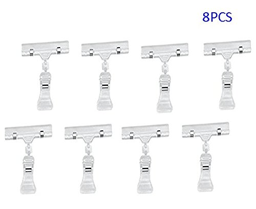 Professional Display 8 Pack Rotatable POP Clip Sign Stand Holder(Clear)(China (Mainland))