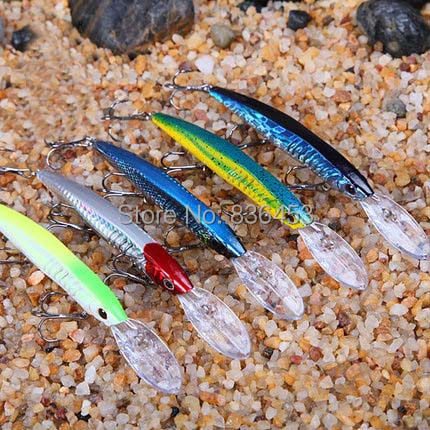 5PCS Fishing Lure Minnow Fishing Lures Japan Plastic Artificial Fish Sea Hooks Lipless Crankbait for Fishing 147mm 13g(China (Mainland))