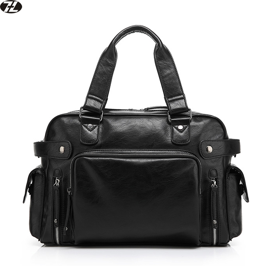 genuine leather men travel bag man handbag business men crossbody duffel bag Metal zipper men messenger shoulder Laptop bag(China (Mainland))