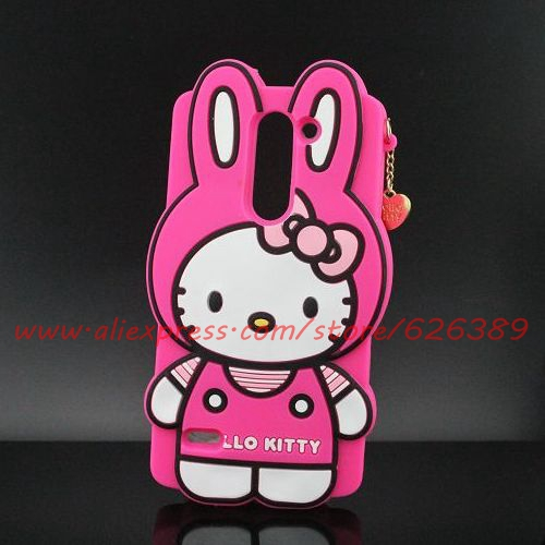 For LG G3 Stylus D690 Case Long Ears Hello Kitty Silicone Phone Cases Cover For LG G3 Stylus(China (Mainland))